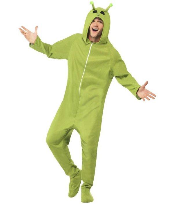 Alien kostuum groen