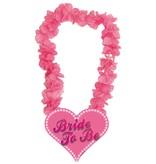 Hawaii krans roze Bride to be
