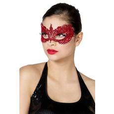 Masker stof met steentjes rood