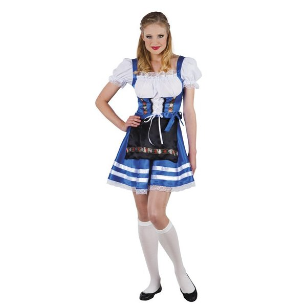 Tiroler jurkje Helena blauw