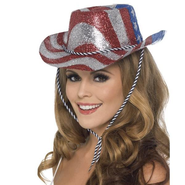 USA glitter cowboy hoed