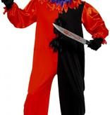 Enge circus clown kostuum