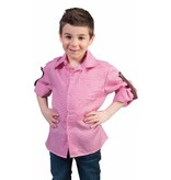 Tiroler blouse kind roze