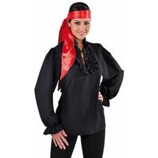 Piratenblouse dames zwart