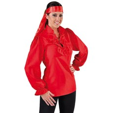 Piratenblouse dames rood