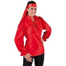 Piratenblouse dames rood