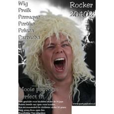 Pruik hard rocker blond