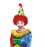 Clownshoed foam met pruik