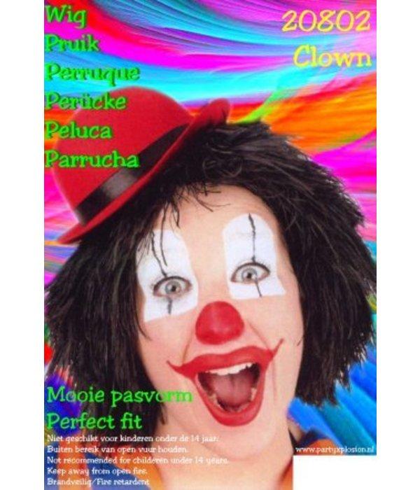 Clownspruik zwart