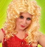 Pruik club blond krul