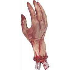 Afgehakte hand met bloed