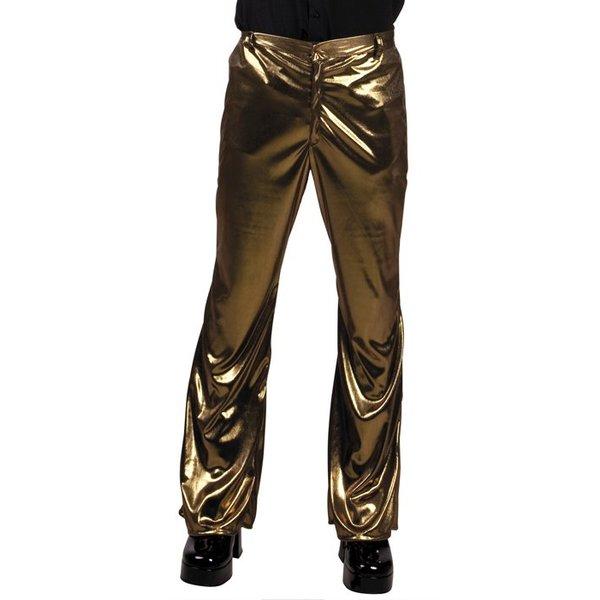 Disco broek goud