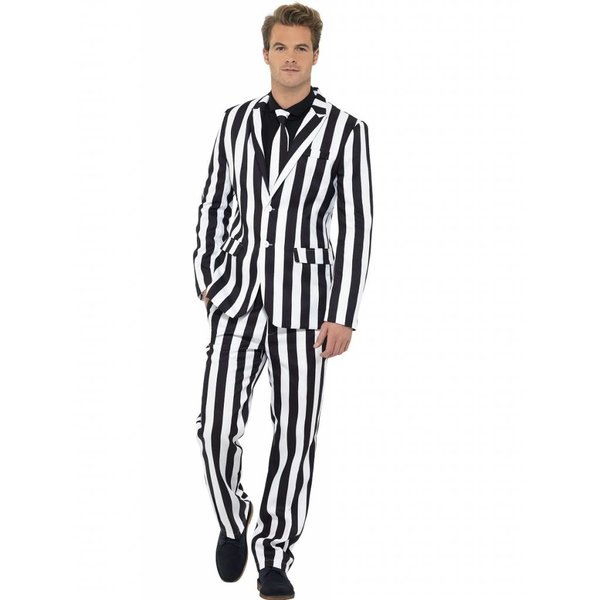 Hamburg kostuum zwart/wit
