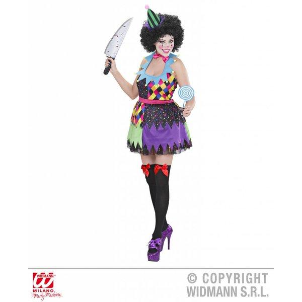Kwaadaardige Clown dame outfit