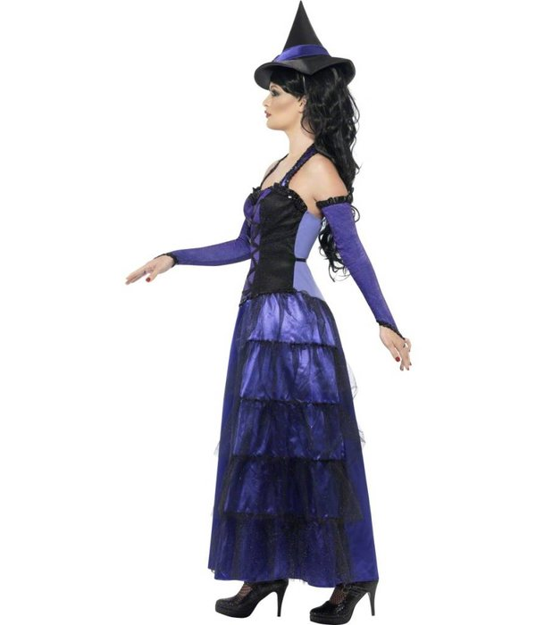 Elegante Heksenkostuum zwart/paars