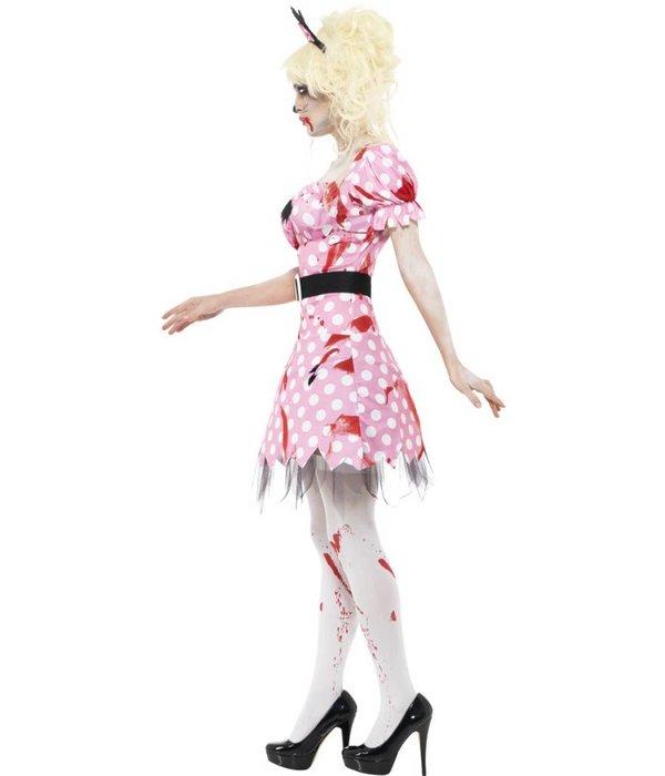 Zombie mini mouse kostuum