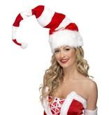 Kerstmuts rood/wit