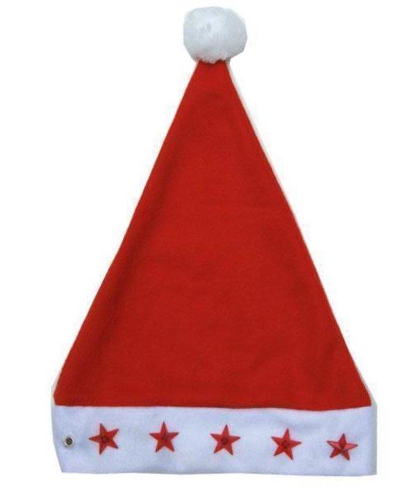 Kerstmuts met sterren