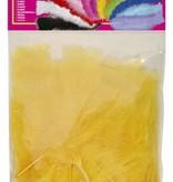 Zakje met 50 veertjes geel