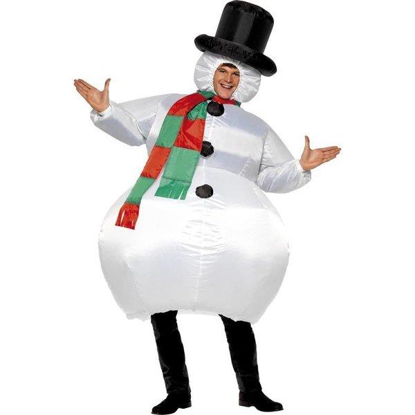 Opblaasbare sneeuwpop kostuum