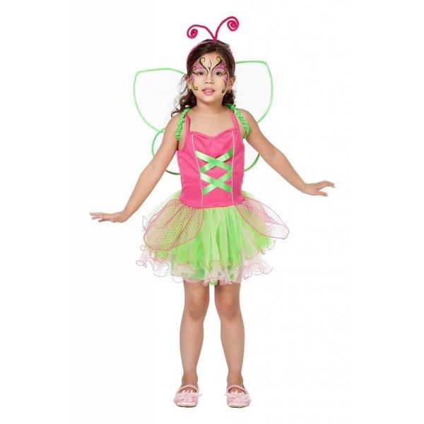 Vlinderpakje pink/groen