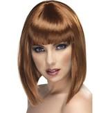 Glamour pruik bruin