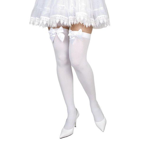 Pantykousen wit met strik
