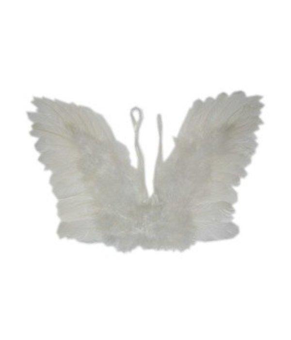 Engelen vleugels wit veren kind