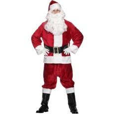 Kerstmanpak pluche luxe