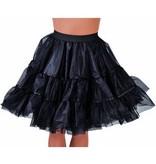 Petticoat middel lang zwart luxe