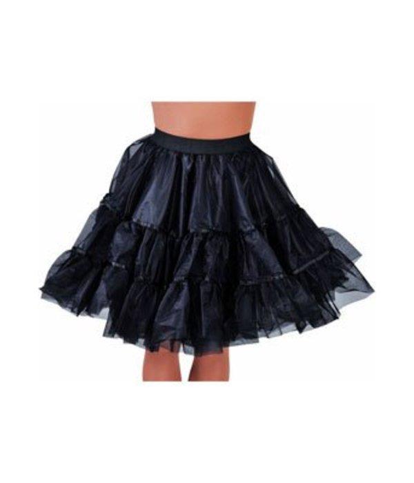 Petticoat middel lang zwart luxe - Feestbazaar.nl
