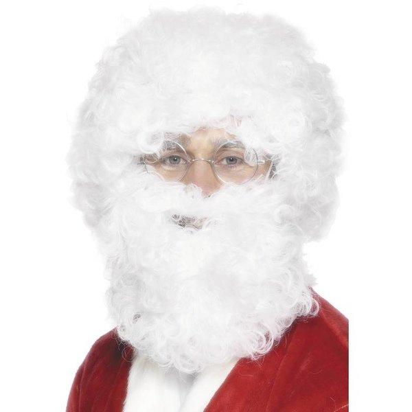 Kerstmannen pruik met baard