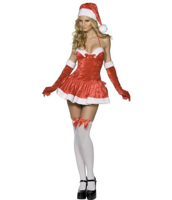 Verleidelijke kerstvrouw outfit
