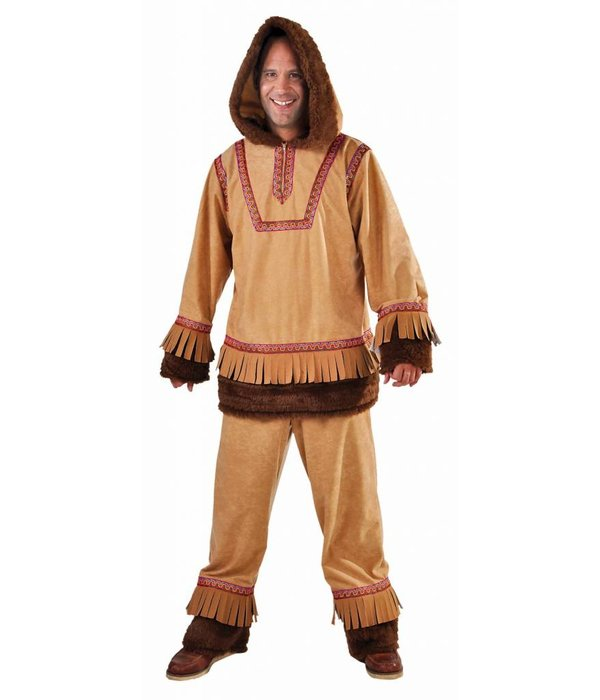Eskimo kostuum man bruin