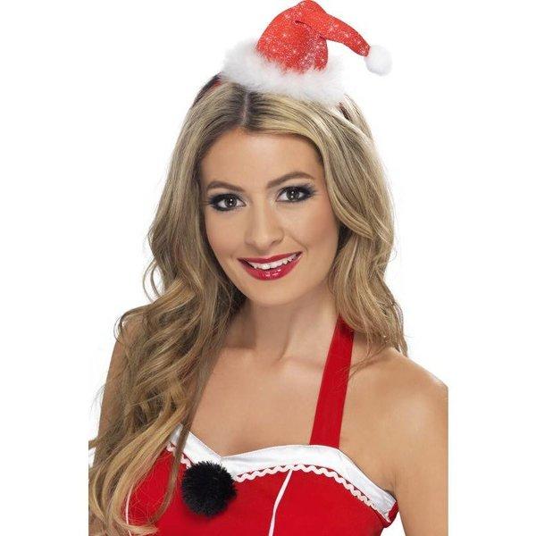 Kerstmuts mini op hoofdband