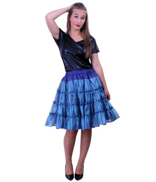 Petticoat 5-laags blauw