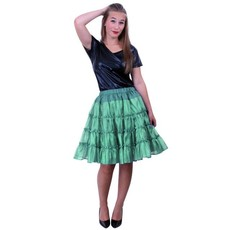 Petticoat 5-laags groen