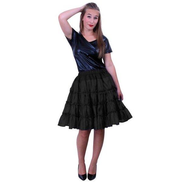 Petticoat 5-laags zwart