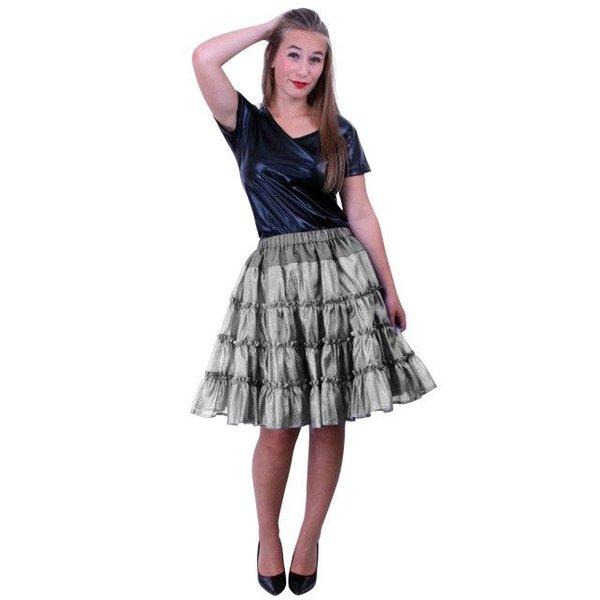 Petticoat 5-laags zilver
