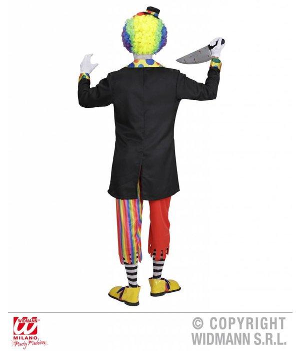 Kwaadaardige Clown kostuum man