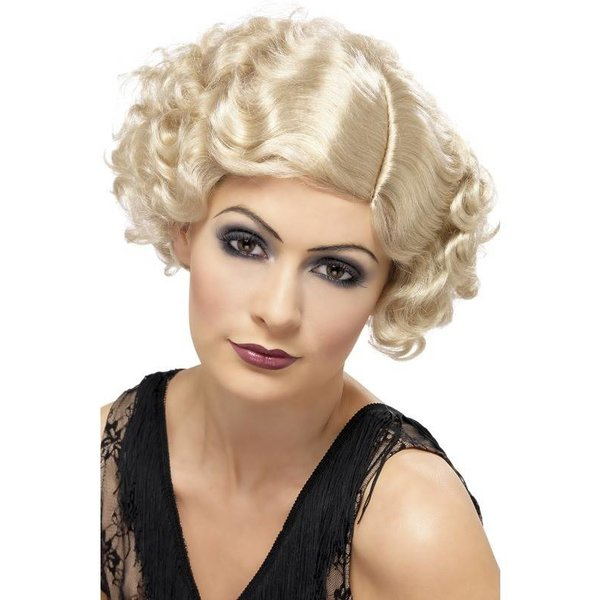 20's Charleston pruik blond