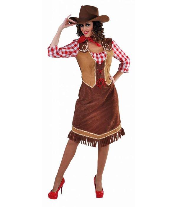 Cowgirl jurk met geruite hemd