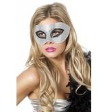 Masker met steentjes zilver