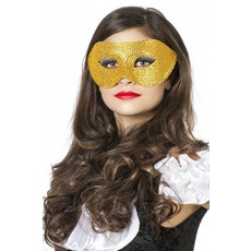Masker met steentjes goud
