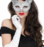 Masker kat luxe zilver