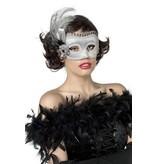 Masket met veren zilver