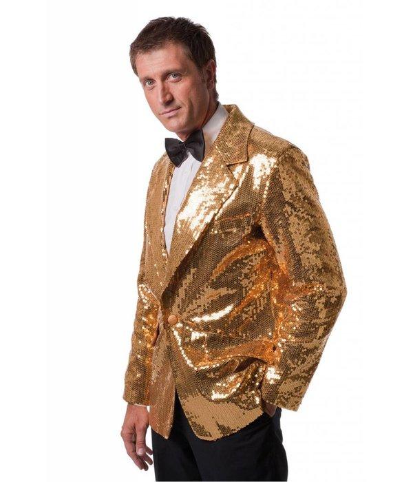 Colbert pailletten luxe heren goud