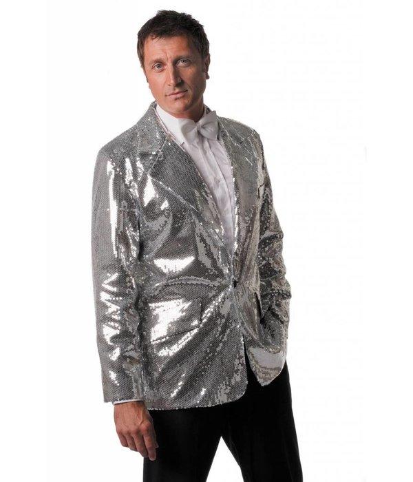 Colbert pailletten luxe heren zilver