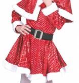 Glitter Kerstmeisje kostuum