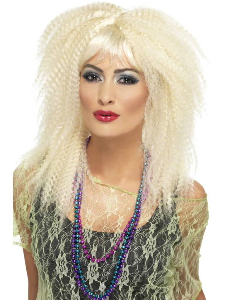 Jaren 80 pruik blond